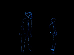 A modern black-light illusion dance performance - the opening number at the Mid-Autumn Festival, on September 16th, 2014,